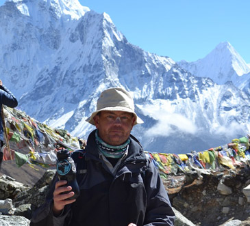 Filtering Water on Everest...